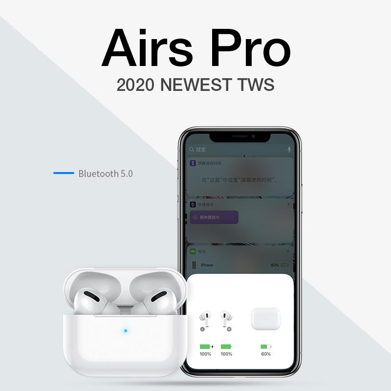 Airpodding Pro 3 Wireless Headphones Bluetooth Earphone Headset Smart Touch Air Earbuds With Case For IPhone Android Pod Pro 3