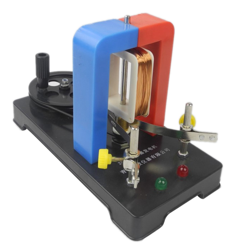 HHO-DIY Hand Electricity Generator Model AC-DC Electric Generator Physical Experiment Education Toys