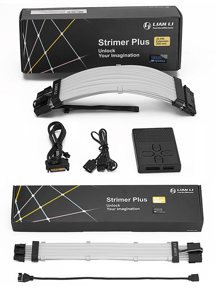 Formulamod Extension-Cable-Kit A-Rgb-Cable Addressable Gpu 8pin Atx 24pin Strimer-Plus
