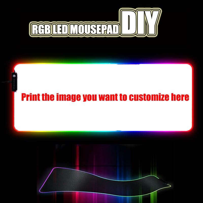 Custom DIY mouse pad RGB LED large gaming mousepad laptop desk mat rubber slip for gamers CSGO tank world speed control dota2Mouse Pads   -