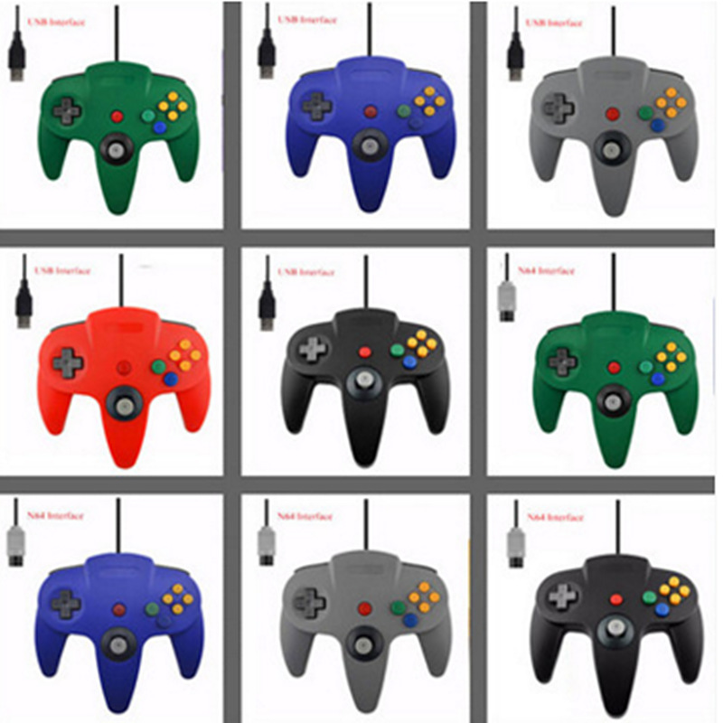cheapest 14 Colors For N64 Controller Joystick N64 Gaming Handrip Gift Control