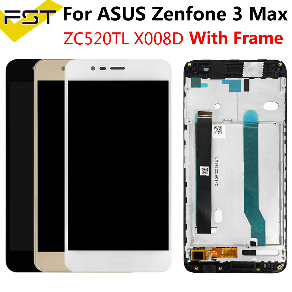 5.2''For <font><b>ASUS</b></font> <font><b>Zenfone</b></font> <font><b>3</b></font> <font><b>MAX</b></font> <font><b>ZC520TL</b></font> X008D X008DC X008DA X00KD LCD Display+Touch <font><b>Screen</b></font> Digitizer Assembly With Fame <font><b>Replace</b></font>+Tool image