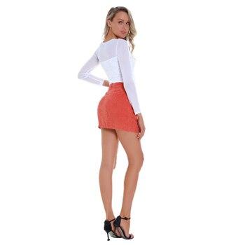 Sale Summer Women Girls Skirt A-Line Button Above Knee Mini Dress Natural Slim Denim Short Wild Bag Hip Solid Color