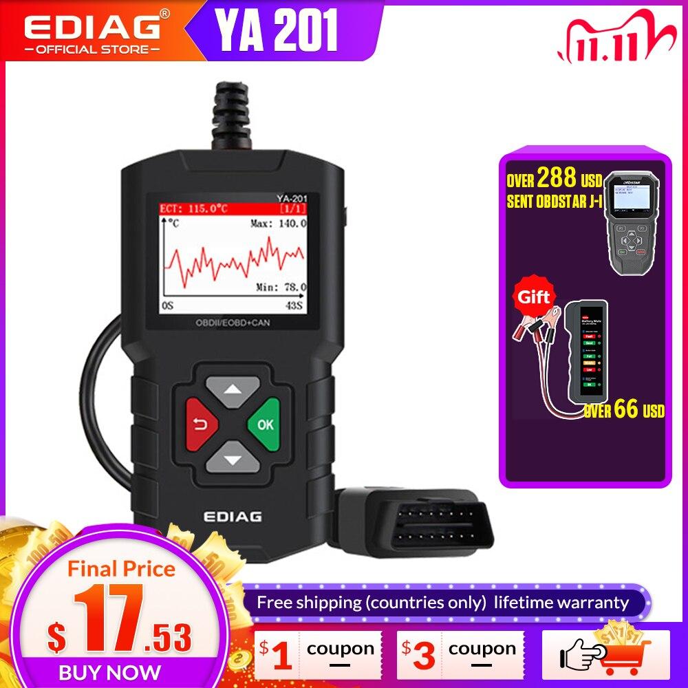 Code Reader YA201 Free update EDIAG Auto OBD2 Scanner Tool OBDII EOBD Support graph datastream  PK Cr319 AD310 elm327 CR3001