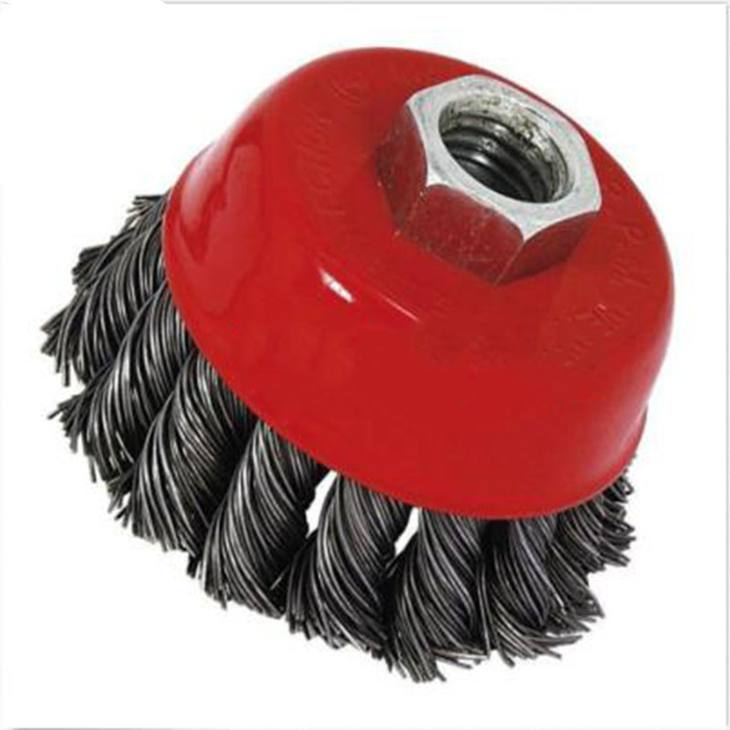 """2 Wire Cup Brush Wheel 3/"""" for 4-1//2/"""" 75mm 115mm Angle Grinder Crimped Cup"""