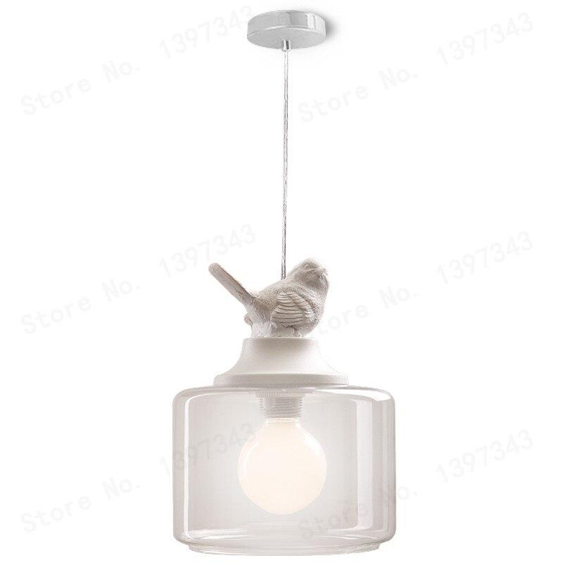 GZMJ creative ve1 tête oiseau pendentif lumières lampe verre Transparent Europe du nord enfants lampes lanternes lampe de salon