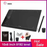 UGEE M708 actualización tableta gráfica de 8192 niveles tableta de dibujo Digital tablero de dibujo de arte electrónico 10x6 pulgadas área activa