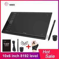UGEE M708 mises à niveau tablette graphique 8192 niveau numérique dessin tablette Art électronique planche à dessin 10x6 pouces zone Active