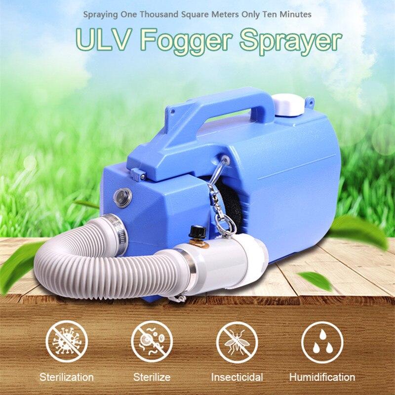 Portable 220V Electric ULV Sprayer Fogger Machine 1000W Disinfection Machine 5L Ultra Capacity Spray Machine Mosquito Killer