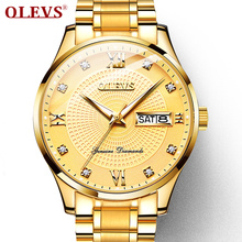 OLEVS Mechanical Watch Men Wrist luxury Business luminous Watches Men Waterproof Gold Full-Steel Watch Clock Montre Homme цена и фото