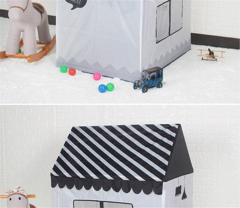 simulação casa presente da barraca preto e branco crianças brinquedos