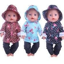 3 шт/компл костюм дождевик милая кукольная одежда для маленьких