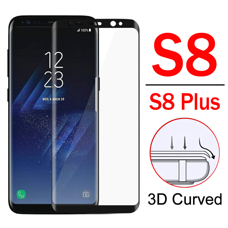 For Samsung S8 Glass Protective S 8 Plus S8Plus Screen Protector Tempered Glas On Galaxy 8S 8plus Sam Armor Sheet 3d Curved Film