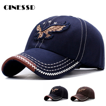 Eagle Embroidery Baseball Cap For Men Women Snapback Adjustable Hats Male Trucker Hats Fashion Hip Hop Cap Outdoor Bonnets fashion five pointed star shape embroidery camouflage pattern baseball cap for men