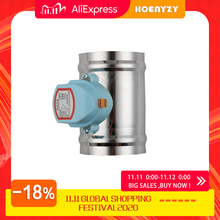 Válvula de aire eléctrica de acero inoxidable, 220V, 24V, 12V, 201, válvula de retención motorizada para tubería de 3/4/5/6/8 pulgadas, 80/100/125/150/200/250mm