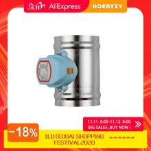 Válvula de retenção motorizada, válvula de aço inoxidável 220 amortecedora de 201 v 24v 12v para 3/4 tubo de 6/8 polegadas 80/100/125/150/200/250mm