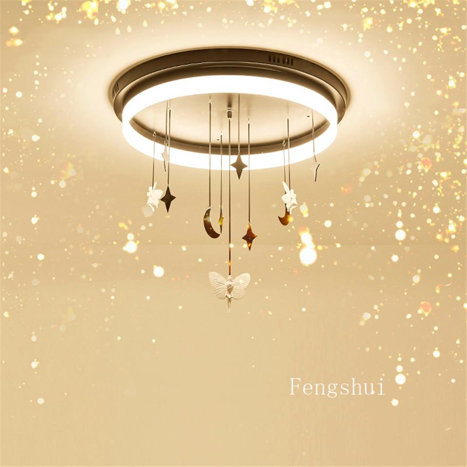 US $9.9 9% OFFModern LED Ceiling Lights lighting Resin Childrens  Bedroom Living Room LOFT Ceiling lamps Interior Decor hanging lamp
