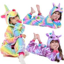 Flanelowe jednorożec Kigurumi piżamy dla dzieci dziewczyny jednorożec piżamy chłopcy Stitch Panda tygrys Zebra Animel Kigurumi piżamy piżamy tanie tanio CHUNJIAN Poliester Cartoon Z kapturem Unisex Pełna REGULAR 85-95-105-115-125 PAJAMAS Pasuje mniejszy niż zwykle proszę sprawdzić ten sklep jest dobór informacji