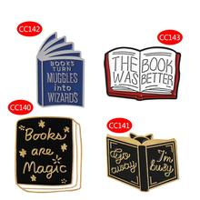 New Book Brooch Cartoon Books Hedgehog Wizard Enamel Backpack Icon Badge Creative Fashion Gifts Decoration Clothing Pins