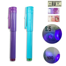 2-In-1 Detector-Pen Note-Tester Counterfeit-Bank Fake UV with Uv-Light Ball-Point Convenient