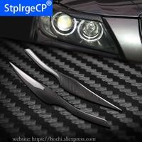 100% high quality Real Carbon Fiber Headlights Eyebrows Eyelids headlights cover for BMW 3 series E90 320i 323i 325i 330i 335i