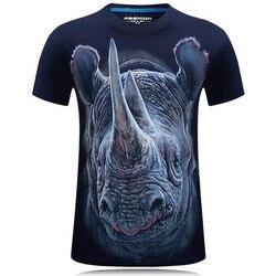Nice Summer Fashion 3D Funny T Shirts Men Animal Printed Cotton Short Sleeve O-Neck T-shirts Punk Male Tops Tees Camisetas 7XL