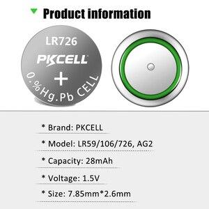 Image 5 - 100 個/10 カードAG2 1.5v 396 SR726SW SR59 726 LR59 0% 水銀ボタン電池弾丸の卵腕時計電卓リモコン