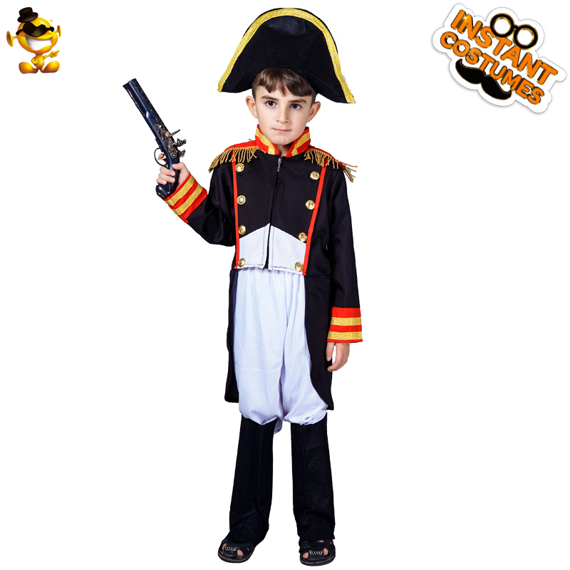 Boy's  Napoleon Costumes Cosplay Purim Party Performance Halloween Costumes for Kids Cosplay Child Napoleon General Clothes 1