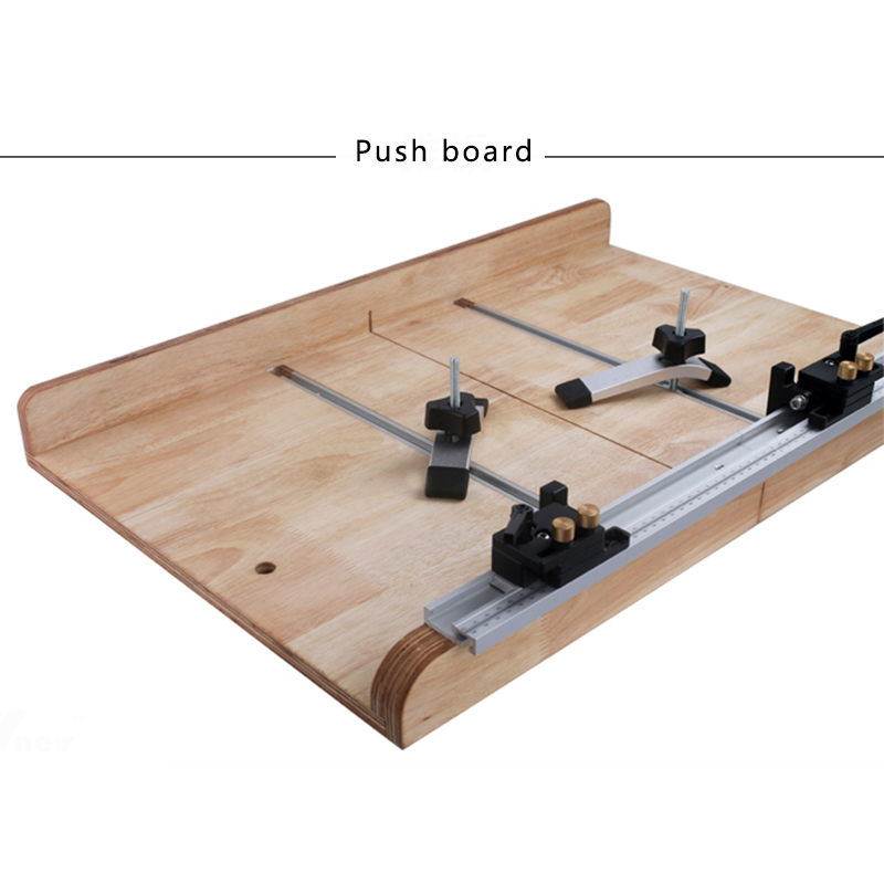Aluminum T Track Rail Miter Track Stop Limiter Miter T-slot 300-600mm Woodworking Hand Tools