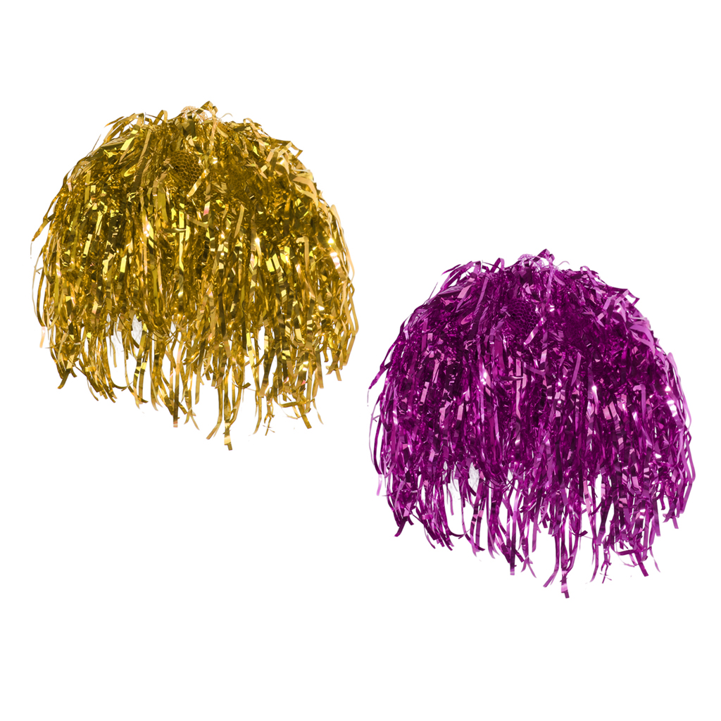 Pack Of 2 Pieces Rose Gold Metallic Foil Tinsel Wigs Dress Up Party Festive Cosplay Costume Props 70s Disco Wigs