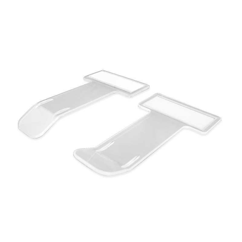 4 個自動車チケットフォルダミニ t 字型透明環境チケットフォルダ車ホルダーマウント用カースタイリングオフィスホーム