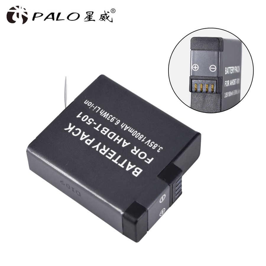 2 قطعة AHDBT-501 AHDBT501 Hero5 البطارية Akku + USB LED 2-منفذ شاحن مع نوع C ميناء ل GoPro بطل 5 GoPro بطل 6 بطارية الكاميرا