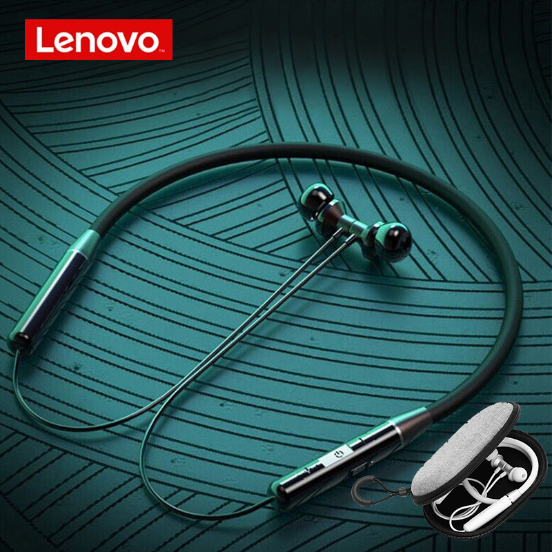 Lenovo Bluetooth Stereo Sports Headset Noise Reduction Magnetic Wireless earphone Runing Headset for Android IOS phone earphones Bluetooth Earphones & Headphones    - AliExpress