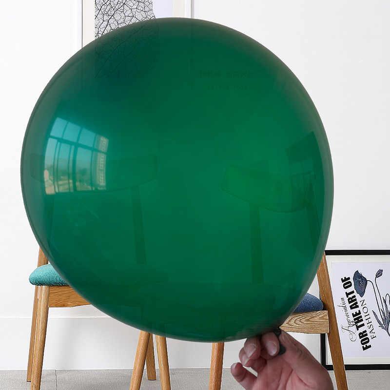 5/10/12/18 polegada verde escuro balão redondo látex balões festa de aniversário decorações adulto bolas de hélio fontes de casamento