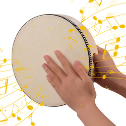8 Inch Wooden Hand Drum Kids Percussion Toy Wood Frame Drum Percussion Instruments