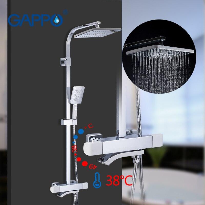 GAPPO смеситель для душа, смеситель для ванны, набор для душа, термостатическая система для душа, для детей, с.