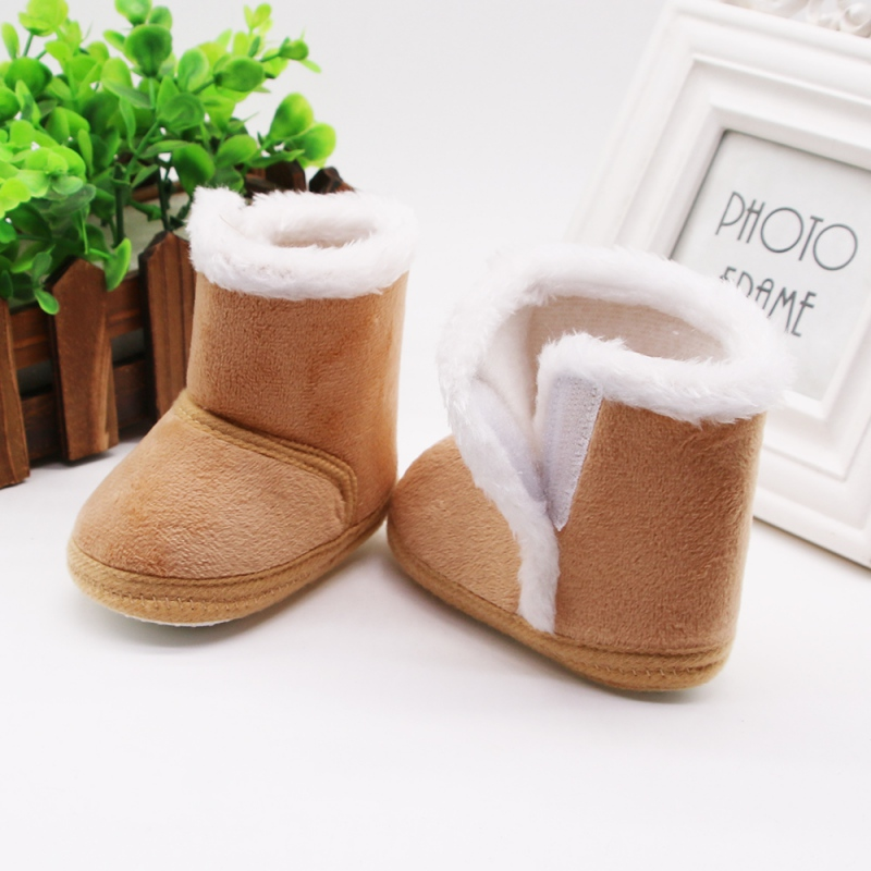 Baby Girls Shoes Winter Snow Boots Warm Leather Fur Baby Botas Waterproof Infant Boot Boys Bootie Shoes Non-slip