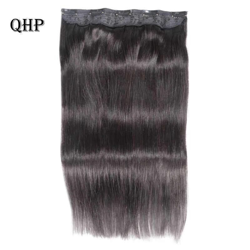 Klip w doczepy z ludzkich włosów 10 cali z 5 klipów/szt naturalny czysty kolor rozszerzenia prosto brazylijski Remy włosy 70 g/sztuka