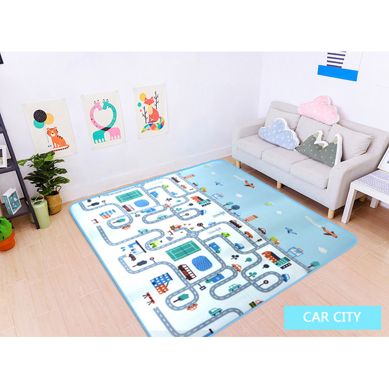 Car City Scene Traffic Highway Map Play Mat Educational Toys For Children Games Road Carpet Crawling Foam Mat Baby Playmat