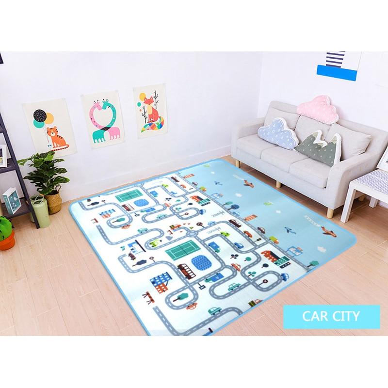Car City Scene Traffic Highway Map Play Mat Educational Toys For Children Games Road Carpet Crawling Foam Mat Baby Playmat