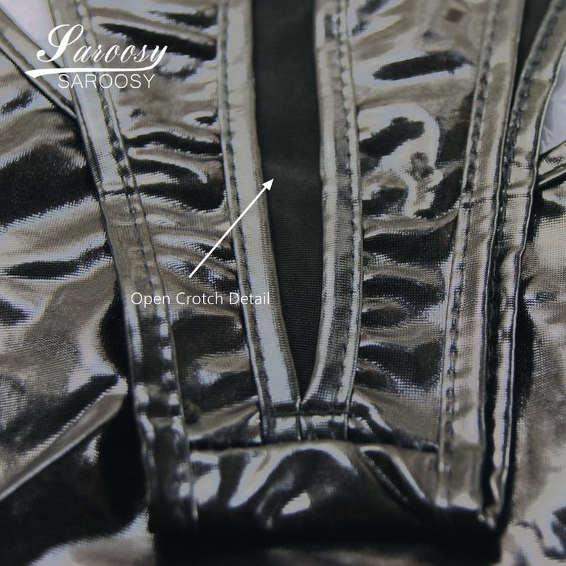 Ultimate SaleSAROOSY Latex Bodysuit Lingerie Thong Erotic-Costumes Open-Crotch High-Cut Women PVC