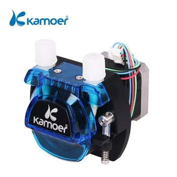 Kamoer KCM 12V /24V Mini Peristaltic Water Pump With Stepper Motor And BPT/Silicon Tube 24v input liquid metering peristaltic pump stepper
