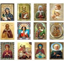 5d diy pintura diamante ponto cruz religião ícone saint george completo redondo diamante mosaico padrão strass bordado artesanato