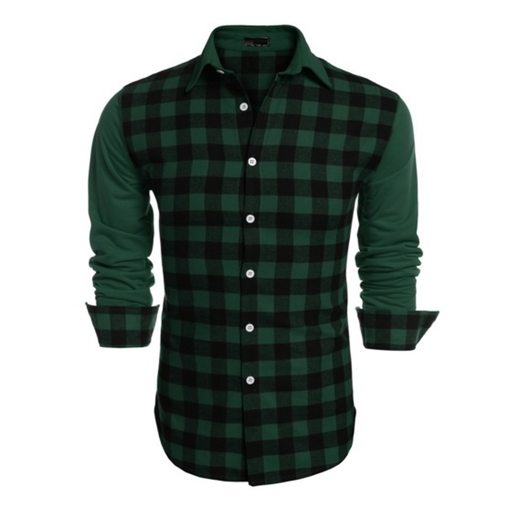 Image 3 - ZOGAA Mens Long Sleeve Dress Shirt Up Casual Plaid Patchwork Shirt Mens Lapel Slim Fit Dress Shirt Men Fashion Blouse Undershirt-in Casual Shirts from Men's Clothing