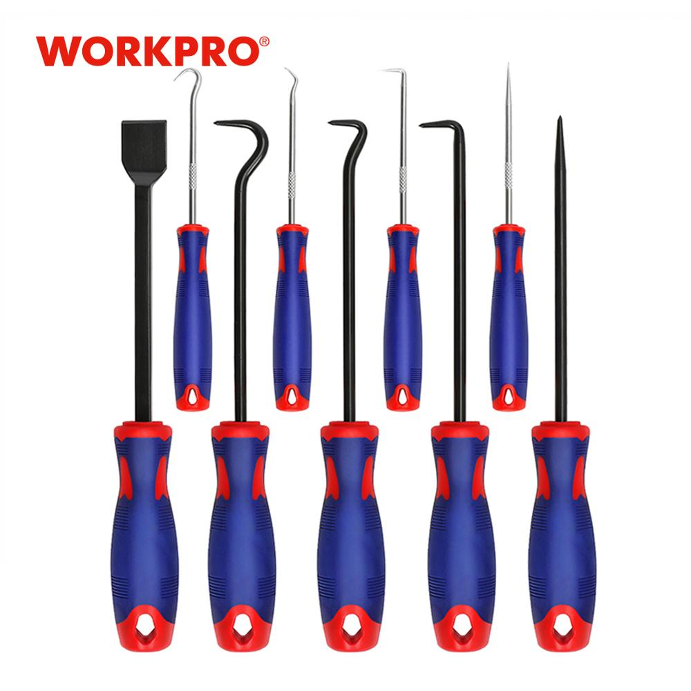 WORKPRO 9 Piece Tool Set Hook Pick And Scraper Set For Watch Clock Repair Tool Kits