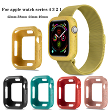 Premium Soft Protective Bumper Cover for apple watch 5 4 44/40mm Shock-proof accessories For iwatch Series 3 2 1 42mm 38mm
