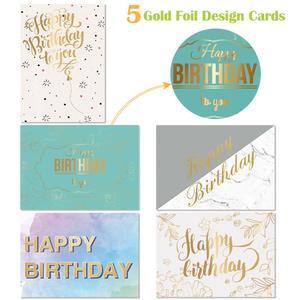 Image 3 - 40PCS Birthday Cards with 40PCS Envelopes Creative Birthday Cards Bulk Box Set Party Supplies