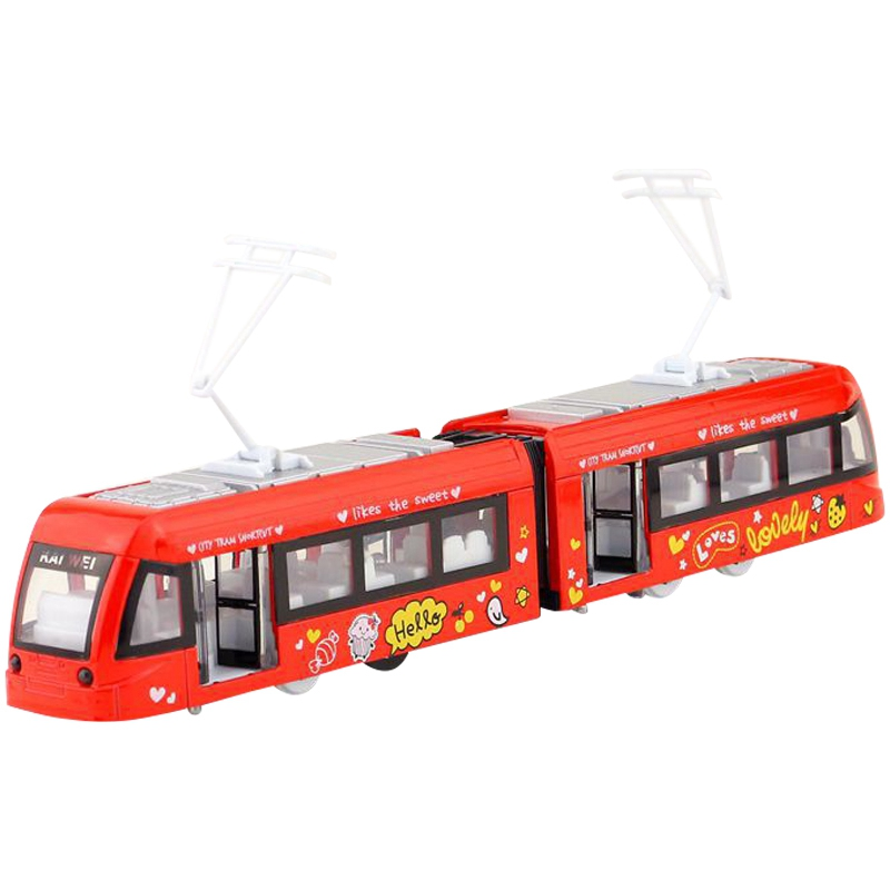 Underground Subway Train Tram/Pull Back/Sound & Light Car/Educational Collection/Gift For Kid