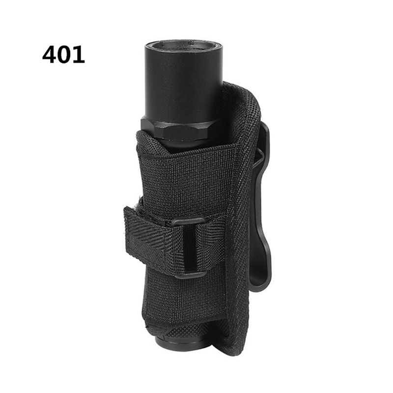 Tactical 360 Degrees Rotatable Flashlight Pouch Holster Torch Case For Belt Torch Cover Hunting Lighting Accessories X3UA