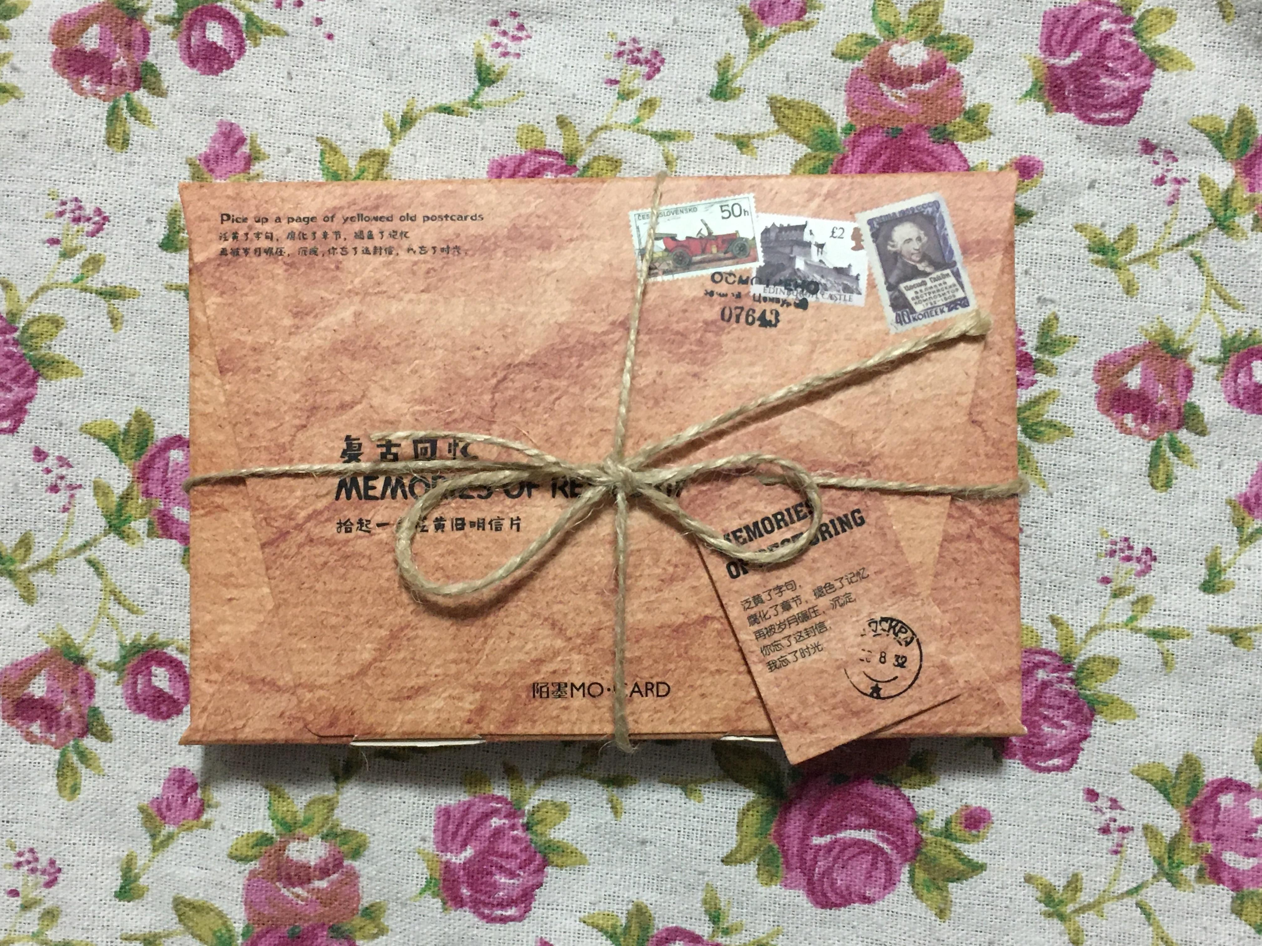 Vintage Time Paper Postcard(1pack=30pieces)